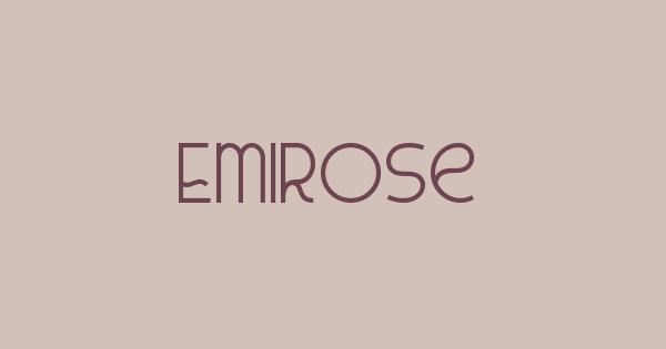 Emirose font thumb