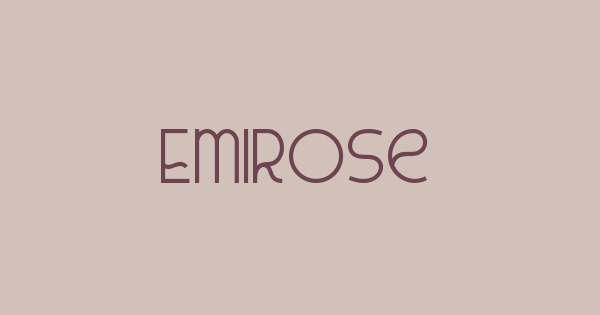 Emirose font thumbnail
