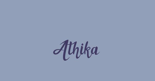 Athika font thumbnail