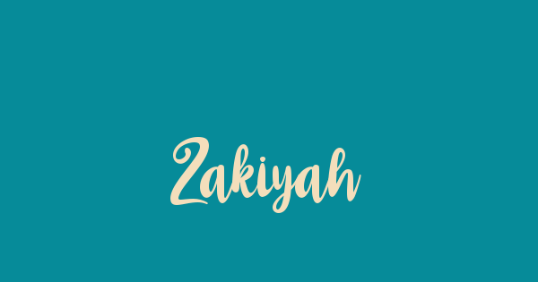 Zakiyah font thumbnail