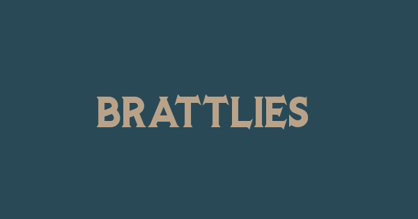 Brattlies font thumbnail