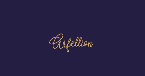 Arfellion font thumb