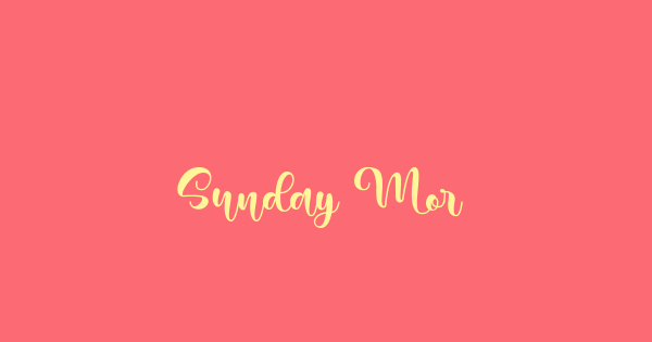 Sunday Morning font thumb