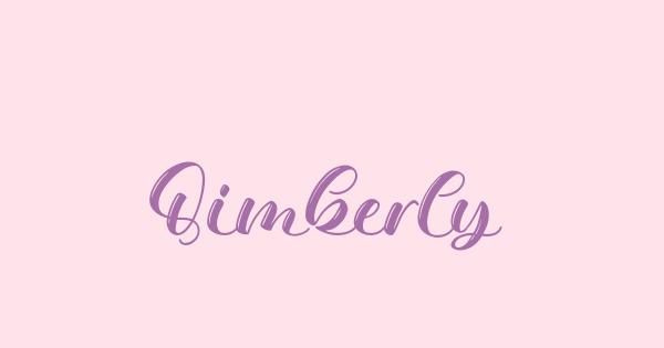 Qimberly font thumb