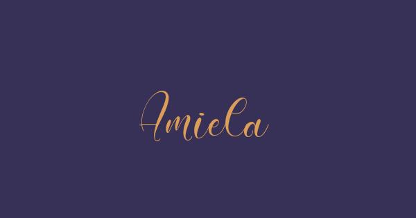 Amiela font thumb