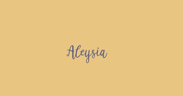 Aleysia font thumb