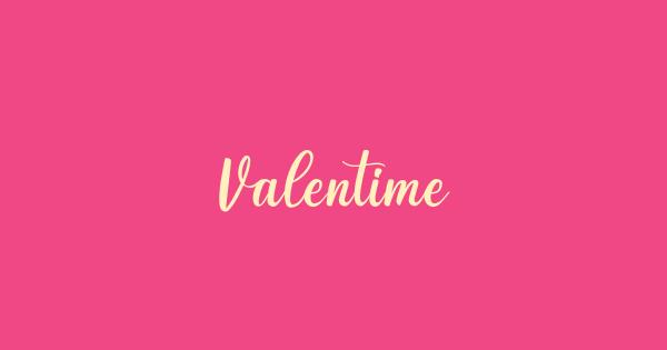 Valentime font thumb