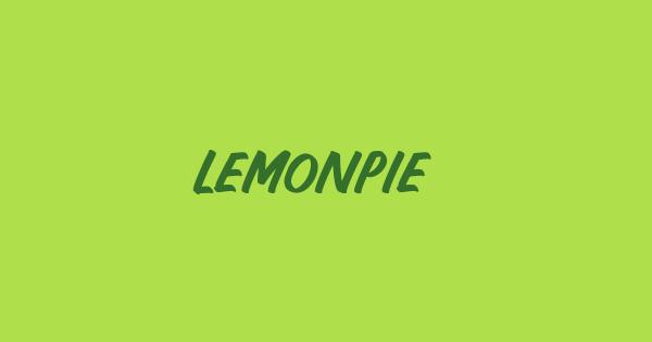 Lemonpie font thumb