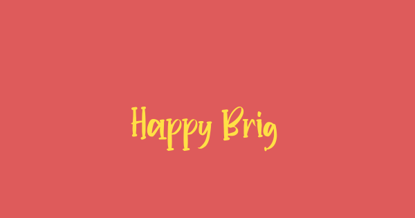 Happy Bright font thumb