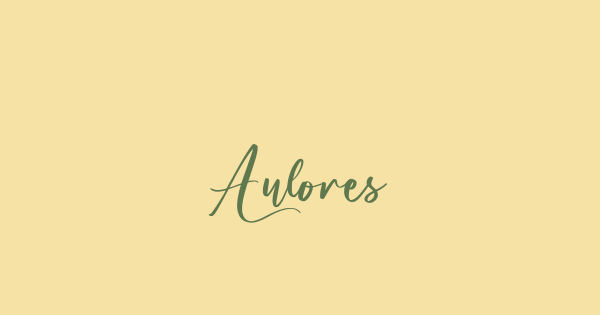 Aulores font thumb