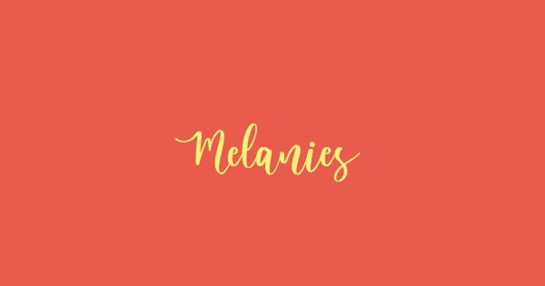 Melanies font thumb