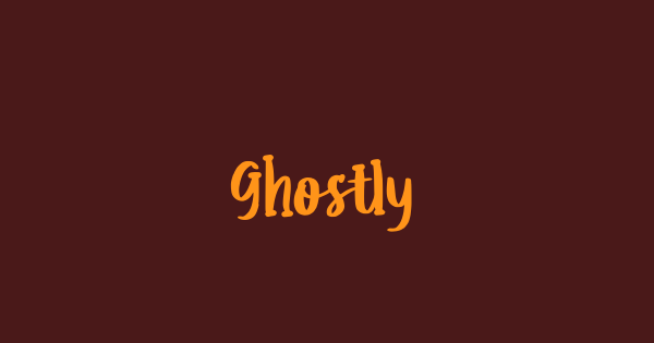 Ghostly font thumb