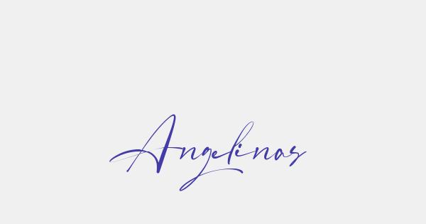 Angelinas font thumb