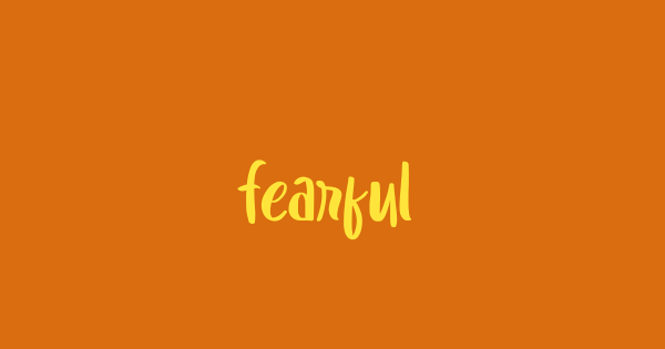 Fearful font thumb