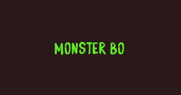 Monster Boo font thumb