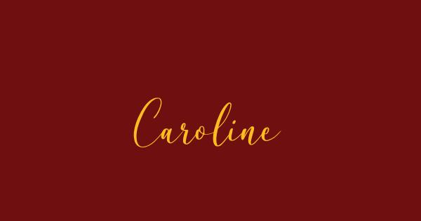 Caroline font thumbnail