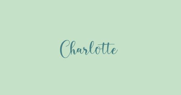Charlotte font thumbnail