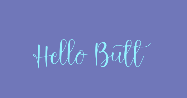 Hello Butterfly font thumbnail