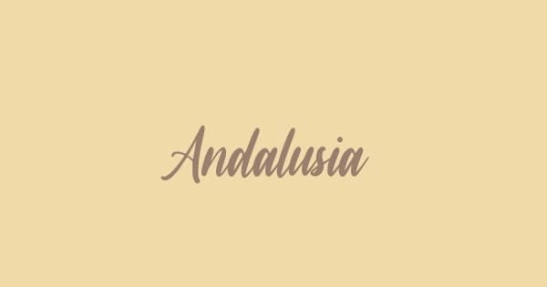 Andalusia font thumbnail