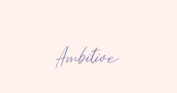 Ambitive font thumbnail