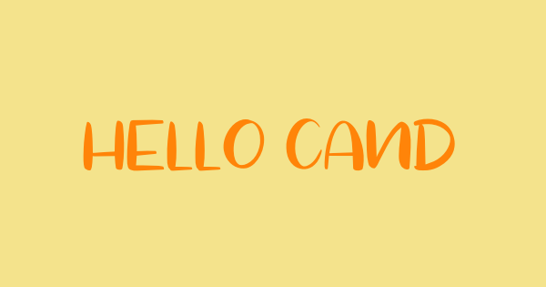 Hello Candy font thumb
