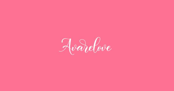 Avarelove font thumb