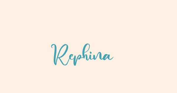 Rephina font thumb