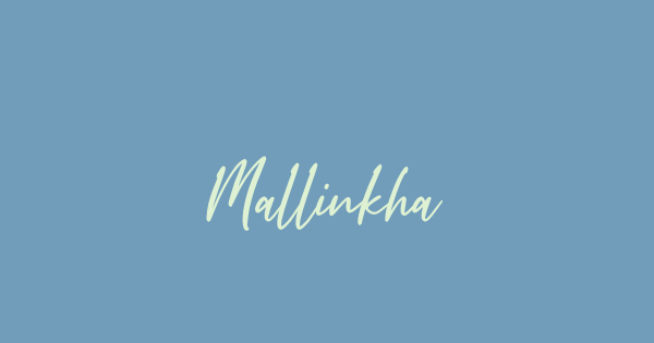 Mallinkha font thumb
