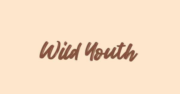 Wild Youth font thumb