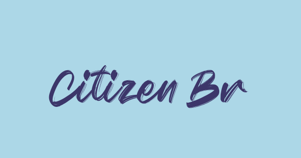 Citizen Brush font thumb