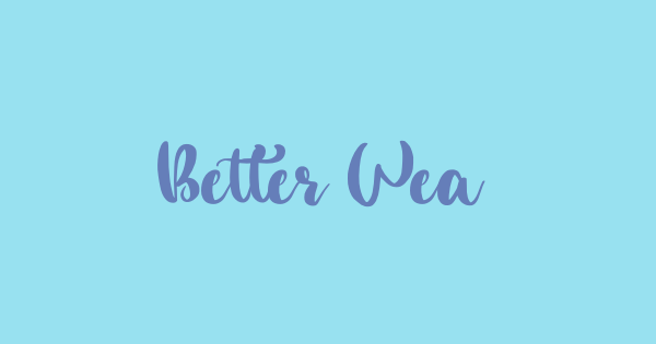 Better Weather font thumb