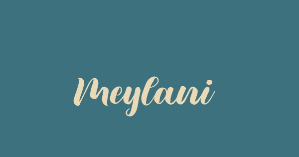 Meylani font thumb