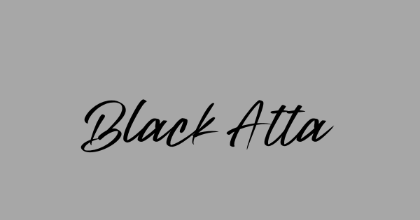 Black Attacks font thumb