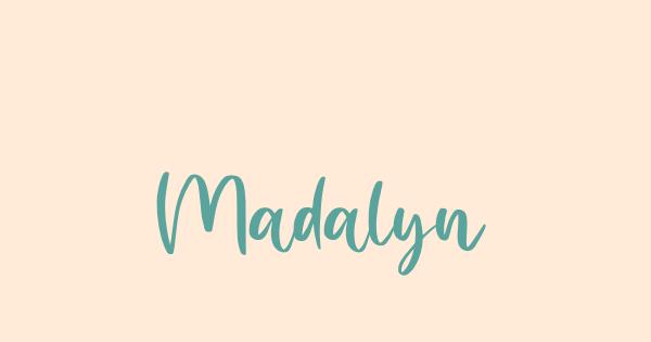 Madalyn font thumb