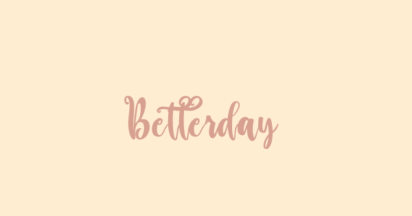 Betterday font thumb