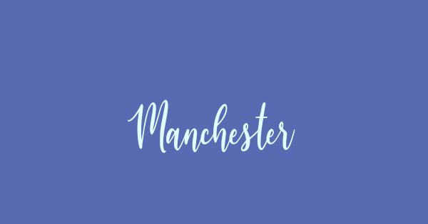 Manchester font thumb
