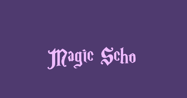 Magic School font thumb