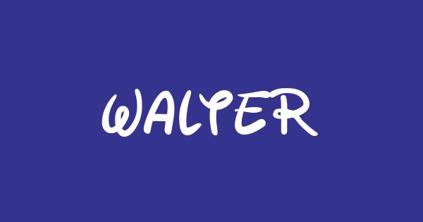 Walter font thumbnail