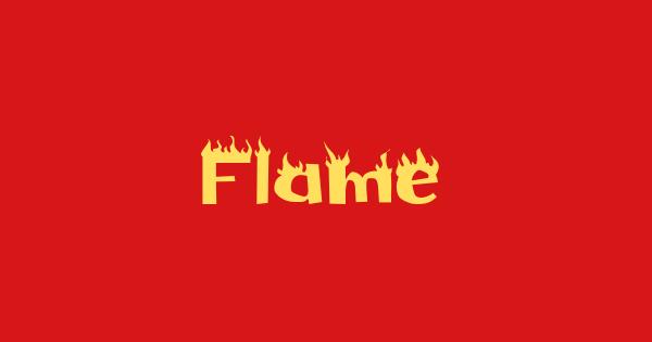 Flame font thumb