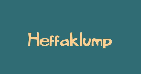 Heffaklump font thumb