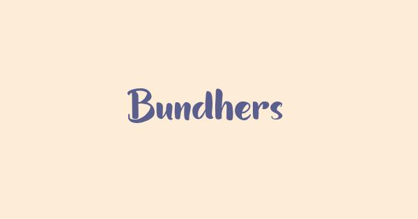 Bundhers font thumbnail