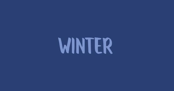 Winter font thumb