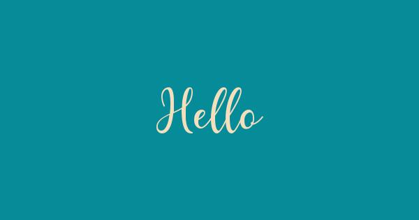 Hello font thumb