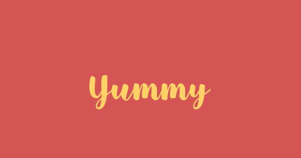 Yummy font thumb