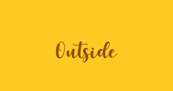 Outside font thumb