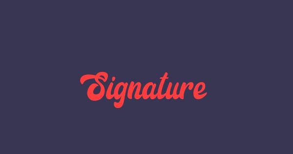 Signature font thumb