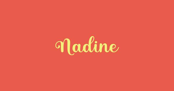 Nadine font thumb