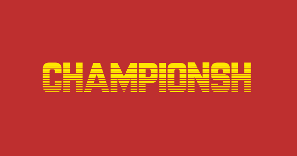 CHAMPIONSHIP font thumb