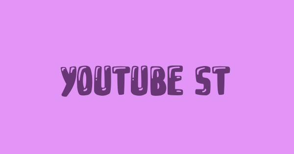 YOUTUBE STAR font thumb