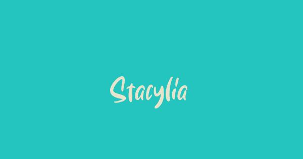 Stacylia font thumb